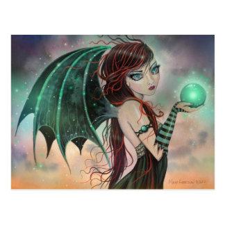 Postal de hadas del arte de la fantasía del vampir