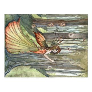 Postal de hadas del arte del encantamiento del bos