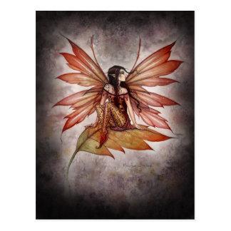 Postal de hadas del arte del otoño gótico por Moll