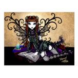 Postal de hadas del arte del Victorian gótico de l