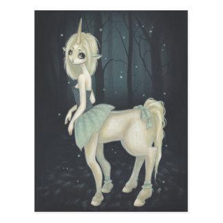 postal de hadas del bosque del centaur
