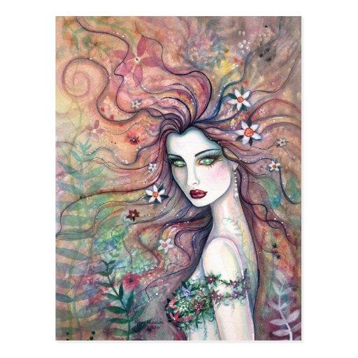 Postal de hadas del Chloris de la diosa de la flor