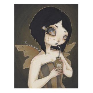 Postal de hadas gótica del arte de la fantasía del