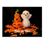Postal de Halloween Amigurumi