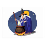 Postal de Halloween del Brew de las brujas