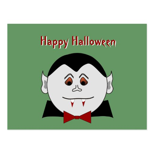 Postal de Halloween del vampiro