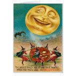 Postal de Halloween del vintage Tarjeta De Felicitación