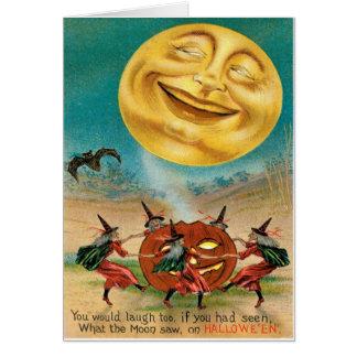 Postal de Halloween del vintage Tarjetas