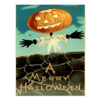 Postal de Halloween del vintage