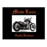 """Postal de """"Harley Davidson Santa Barbara"""" del loco"""