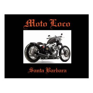 Postal de Harley Davidson Santa Barbara del loco