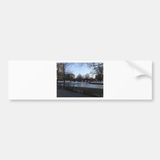 Postal de Hartford - parque de Bushnell Etiqueta De Parachoque