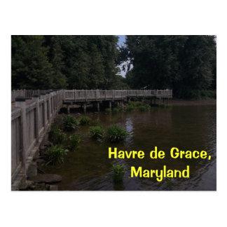 Postal de Havre de Grace Boardwalk