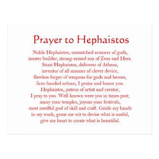 Postal de Hephaistos (Hephaestus)