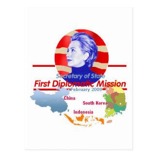 Postal de Hillary Clinton