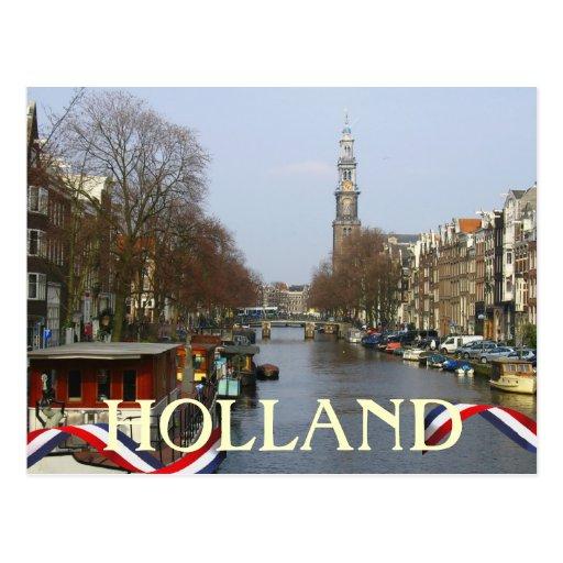 Postal de Holanda de la torre de iglesia de Amster