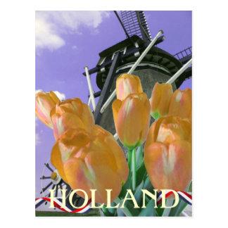 Postal de Holanda del arte del molino de viento de