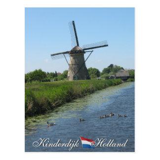 Postal de Holanda del molino de viento de Kinderdi