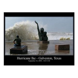 Postal de Ike del huracán