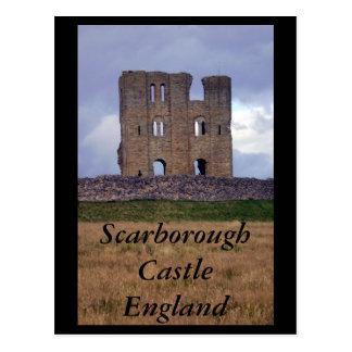Postal de Inglaterra del castillo de Scarborough