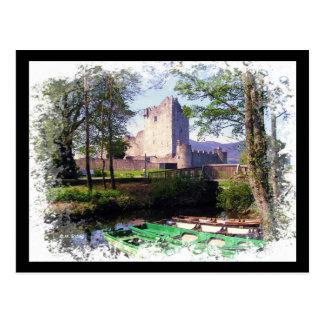 Postal de Irlanda del castillo de Ross