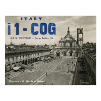 Postal de Italia de la tarjeta del equipo de radio