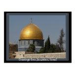 Postal de Jerusalén Israel