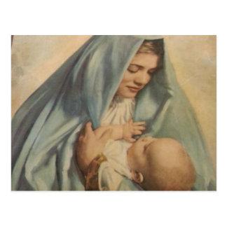 Postal de Jesús del Virgen María y del bebé