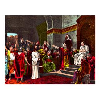 Postal de Jesús y de Pilate