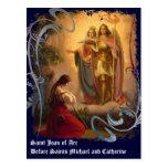 Postal de Juana de Arco del santo