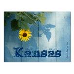 Postal de Kansas: Azul del girasol