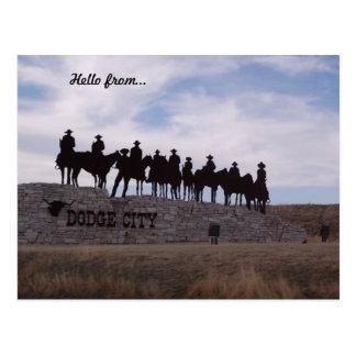 postal de Kansas de la ciudad del regate