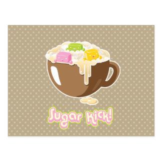 Postal de Kawaii del retroceso del azúcar