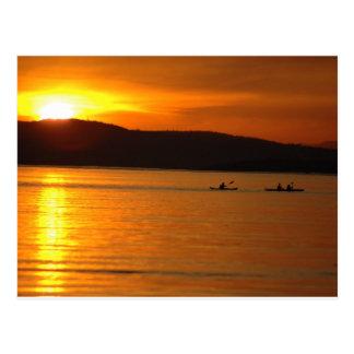 Postal de Kaykers de la puesta del sol