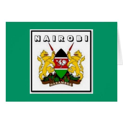 Postal de Kenia Tarjeta
