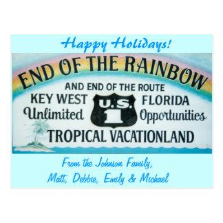 Postal de Key West de los días de fiesta de Hapy