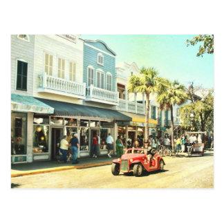 Postal de Key West la Florida de la calle de Duval