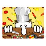 Postal de Kilroy del cocinero