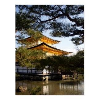 Postal de Kinkakuji (el pabellón de oro)