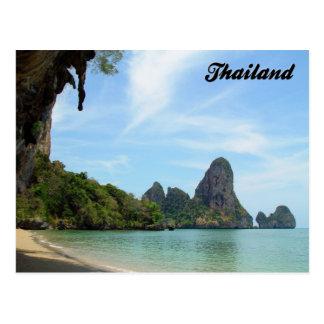Postal de Krabi Tailandia de la playa de la Playa-