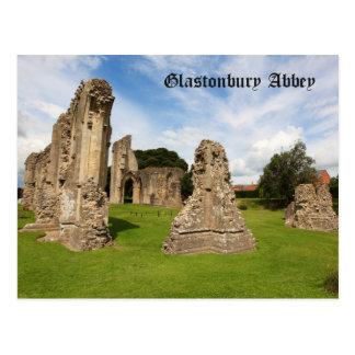 Postal de la abadía de Glastonbury
