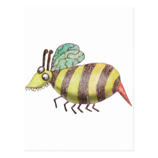 Postal de la abeja de Katie