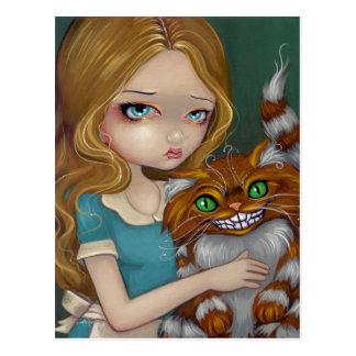 """""""Postal de la abrazo del gato de Cheshire"""""""