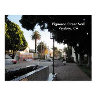 Postal de la alameda de la calle de Ventura