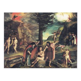 Postal de la alegoría de Holbein