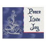 Postal de la alegría del amor de la paz