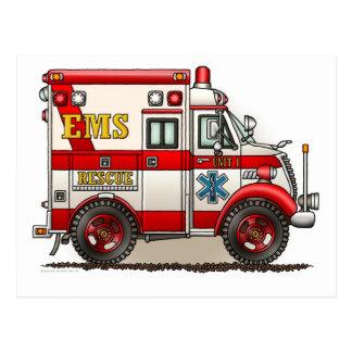 Postal de la ambulancia del camión de la caja