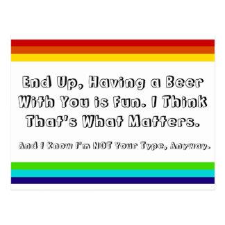 Postal de la amistad del arco iris
