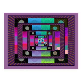 Postal de la amistad del remiendo del fractal nuev