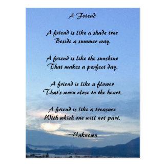 Postal de la amistad